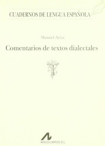 COMENTARIOS DE TEXTOS DIALECTALES