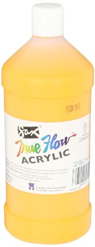 Sax True Flow Medium Bodied Acrylic Paint - Quart - Yellow