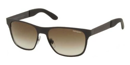 Yves Saint Laurent Yves Saint Laurent 2334/S Sunglasses Gray Matte / Brown Gray Gradient
