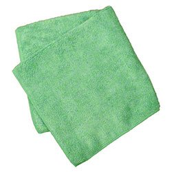 Impact K300 Microfiber Towels, Pro-Grade No Lint Microfiber Cleaning Towels Blasts Nastiest Crud, Green (12/pk)