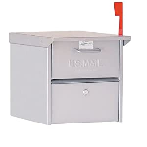 Amazon Com Road Side Locking Mailbox Silver Home Amp Kitchen
