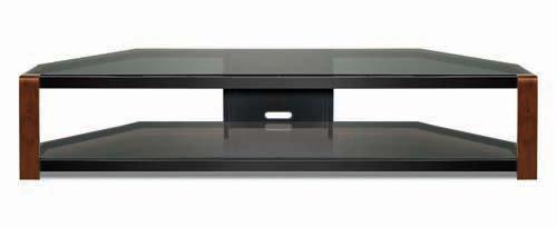 31MDTEXCYHL Bello NT2147 92 Inch Wide Audio/Video Furniture Wood Legs
