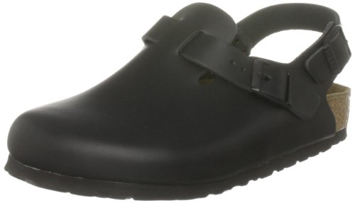 Birkenstock Tokio Smooth Leather, Style-No. 61191, Unisex Clogs, Black, EU 37, normal width