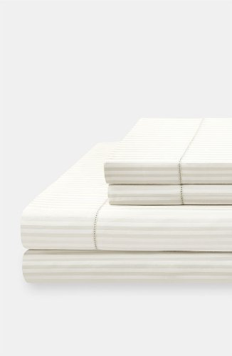 Kate Spade New York Magnolia Park Fresh Cream 400 Tc King Fitted Sheet front-654976