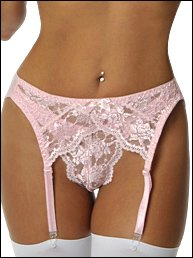 Luster Lace Garter Belt Plus