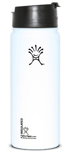Hydro Flask Insulated Stainless Steel Wide Mouth Hot/Cold Coffee, Tea And Water Bottle, 18-Ounce/Medium, Arctic White front-406169