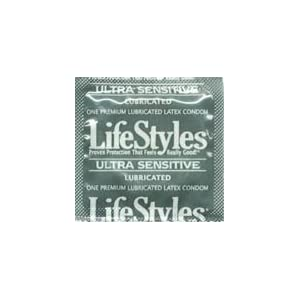 100 Lifestyles Ultra Sensitive Condoms, a Condom that's Extra Thin and Lubricated for a Better Fit