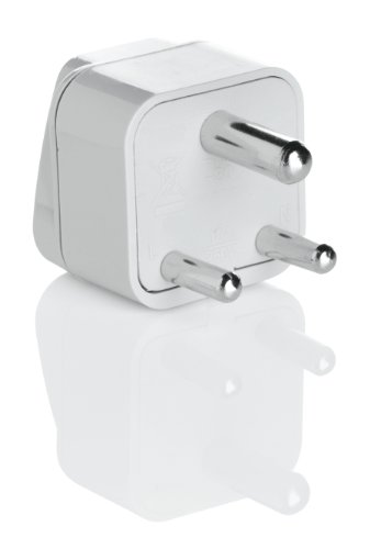 Travel Smart Grounded Adapter Plug For India, Hong Kong, Parts Of South Africa And Singapore