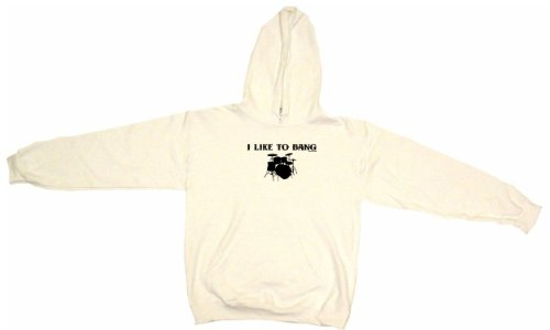 I Like To Bang Drums Drum Set Logo Men'S Hoodie Sweat Shirt Xxxxxl (5Xl), White