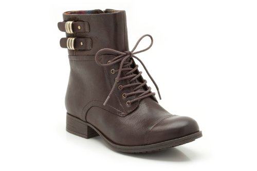 Clarks Womens Mimic Play Dark Brown Leather