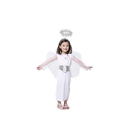 ハロウィン グッズ Angel Child Costume 子供 エンジェル 仮装 変装 コスチューム Halloween  天使 仮装 衣装 Ruleronline (M)
