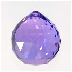 30mm Purple Crystal Ball Prisms #1701-30