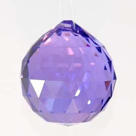 30mm Purple Crystal Ball Prisms #1701-30