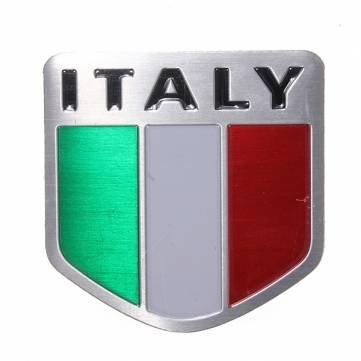 Italie emblème alliage du pavillon des sports de course automobile de métal autocollant badge autocollant