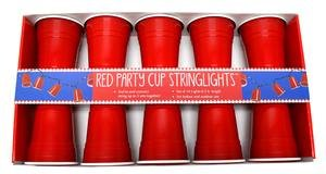 Set of 10 Red Party Cup String Lights 11087