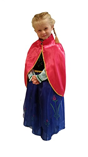 Deluxe Frozen Sister Inspired Girls Costume Size S (3-4) w/ Free Anna Balloon - 1