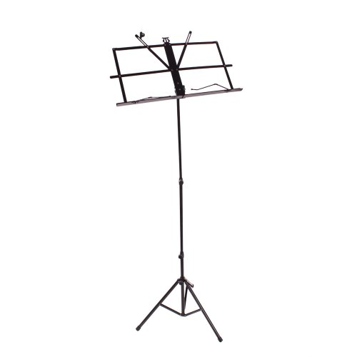 Ztdm Compact Portable Adjustable Folding Music Stand Black