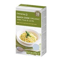 Clearspring Quick Cook Millet biologique, pois 250g x 2