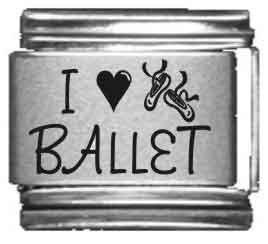 I Heart Ballet Laser Italian Charm