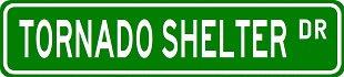 TORNADO SHELTER Street Sign ~ Custom Aluminum Street Signs - Buy TORNADO SHELTER Street Sign ~ Custom Aluminum Street Signs - Purchase TORNADO SHELTER Street Sign ~ Custom Aluminum Street Signs (The Lizton Sign Shop, Home & Garden,Categories,Patio Lawn & Garden,Outdoor Decor)