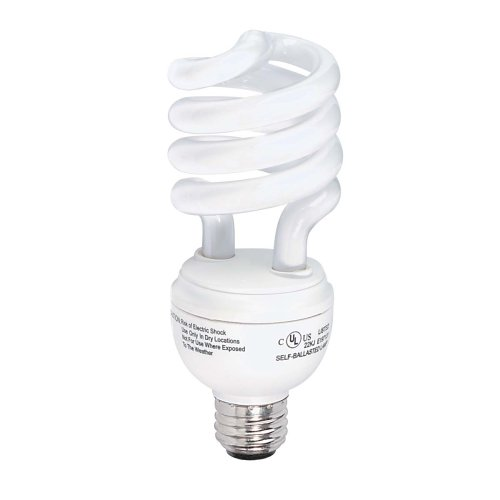 Globe 48526 23-Watt Mini Compact Fluorescent Spiral Bulb (100-Watt Incandescent Equivalent), Soft White, 4 Pack