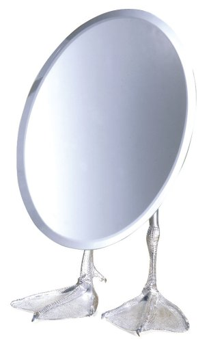 Kikkerland Duck-Footed Tabletop Vanity Mirror (Duck Feet Mirror compare prices)