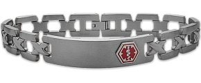 Men's Adjustable Titanium Medical ID Bracelet