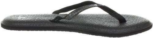 Sanuk Women's Yoga Spree 2 Flip Flop,Black,7 M US
