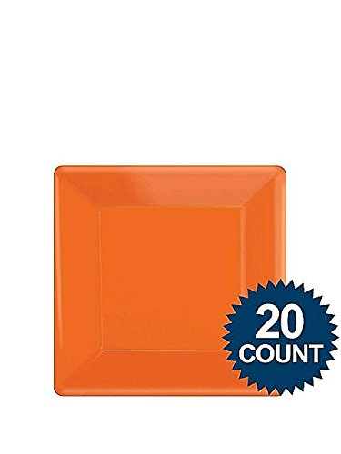 Orange Party Supplies Square Dessert Paper Plates 20ct [Toy] [Toy]