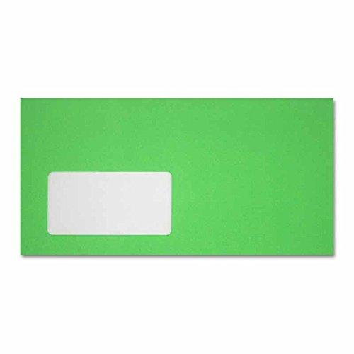 neon-briefumschlage-110x220-mm-11x22-cm-mit-haftstreifen-und-fenster-neon-grun-100-stuck