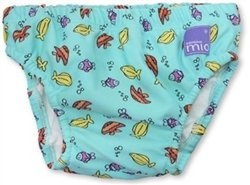 Bambino Mio Swim Nappy- Blue Fish-Medium front-602681