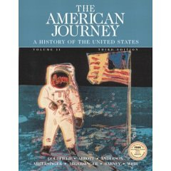 The American Journey: A History of the United States, Vol. II- Practice Tests Only