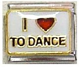 Clearly Charming I Heart to Dance Italian Charm Bracelet Link
