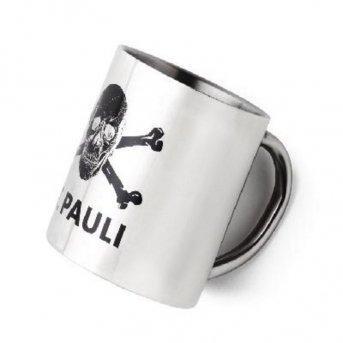 "Upsolut St. Pauli FC1126 - Tazza ""St. Pauli"" in acciaio INOX con teschio"