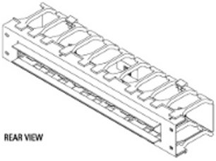 """30130-719 - Chatsworth Universal Horizontal Cable Manager-Single Sided; 19.25""""W x 3.47'H"""