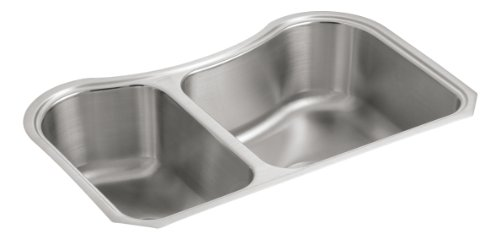 KOHLER K-3891-NA Staccato Undercounter Offset Stainless Steel Sink