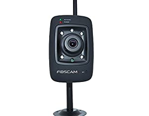 Foscam FI8909W-NA Wireless/Wired IP/Network Camera with 7 Meter Night Vision and 3.6mm Lens (67 Viewing Angle)