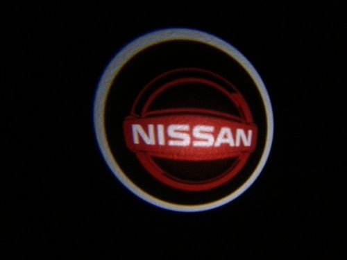 Nissan Ghost Door Logo Projector Shadow Puddle Laser Led Lights 7W (Qty 2)Red