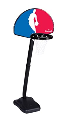 5HNBA5 Spalding One on One NBA Logo Man Portable Youth Basketball System