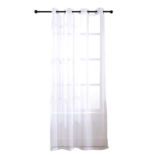 SINOGEM Sheer Curtains Window Treatment Kitchen Polyester Panels Drape Home Living room Bathroom Decorative for girls(53