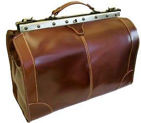 Floto Positano Duffle Vecchio Brown Leather Travel Bag Luggage Suitcase