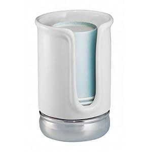 InterDesign York Bath Collection Disposable Cup Dispenser White