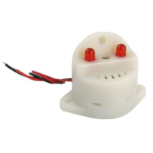 Amico Dc 6-24V 30Ma 2 Wire Industrial Red Led Flash Alarm Buzzer Siren 95Db