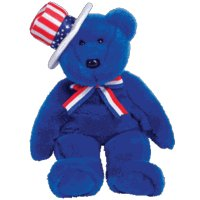 TY Beanie Buddy - SAM the Bear (Blue Version)