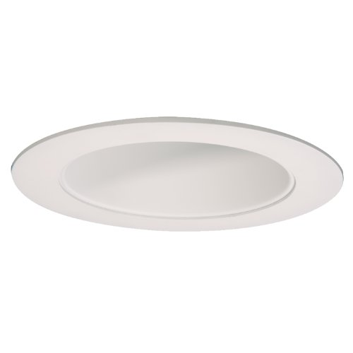 Halo Recessed 494P06 6-Inch LED Trim Reflector with Matte White Ring