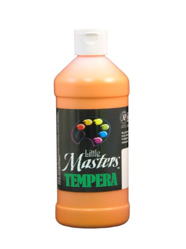 Little Masters 201715 Tempera Paint, Orange, 16 oz (LIM201715)