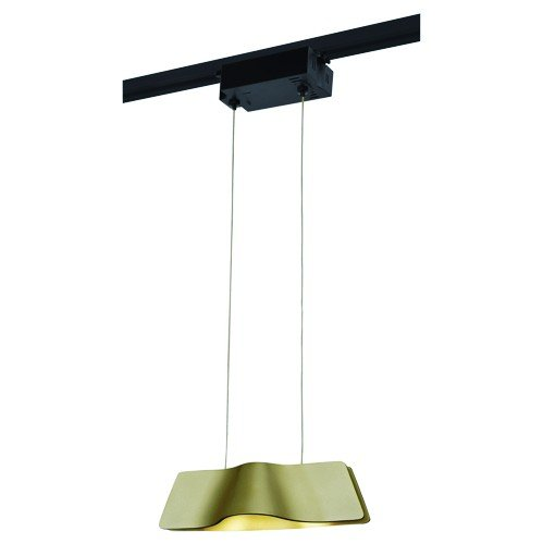 SLV 1-Phasen Pendelleuchte Wave Pendant, 8,6W, COB LED, 3000K, 120 Grad, inklusiv Adapter, messing 144003