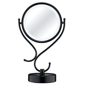 Best Cheap Deal for Reflections by Conair Home Vanity Fluorescent Collection Mirror, Matte Black Finish from Conair - Free 2 Day Shipping Available