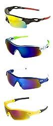 Abqa Hi Quality Premium Sports, Wrap-around, Cat-eye Sunglasses