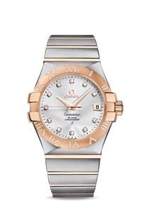 Omega Constellation Silver Dial Co-axial Automatic Winding Diamond Back Cover Skeleton K18rg / Stainless 123.25.35.20.52.003 Men Watches (Omega Skeleton compare prices)